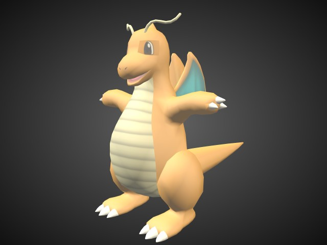Dragonite 3d Models For Free Download Free 3d