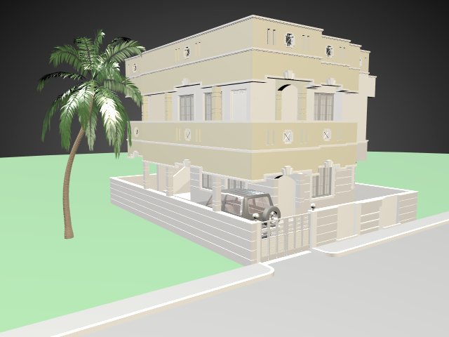 Building 3d models for free download free 3d for Minimalist house 3d model